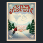 "Aspen, Colorado | Ski Slopes Postcard<br><div class=""desc"">Anderson Design Group is an award-winning illustration and design firm in Nashville,  Tennessee. Founder Joel Anderson directs a team of talented artists to create original poster art that looks like classic vintage advertising prints from the 1920s to the 1960s.</div>"