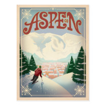 Aspen, Colorado | Ski Slopes Postcard