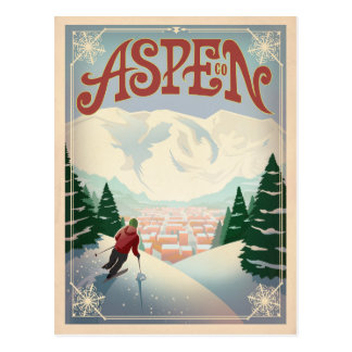 Aspen, Colorado | Ski Slopes Postcard