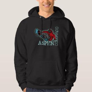 Aspen Colorado snowboarder shred dark hoodie