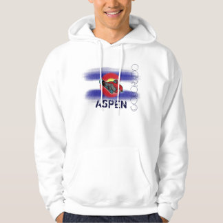 Aspen Colorado state flag snowboarder hoodie