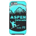Aspen Colorado teal snowboard art iPhone 6 case