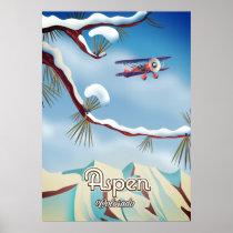 Aspen Colorado travel poster