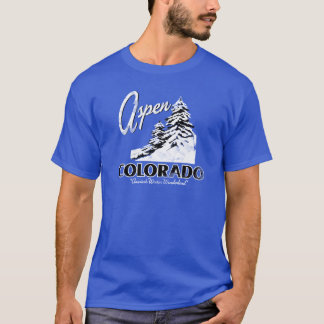Aspen Colorado USA Retro Design T-Shirt