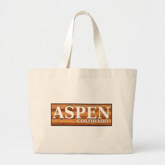 Aspen Colorado wooden log sign Bags