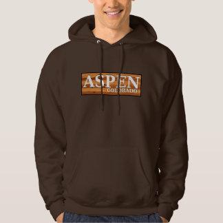 Aspen Colorado wooden log sign Hoodie