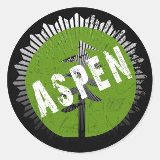 Aspen Decay Logo Classic Round Sticker