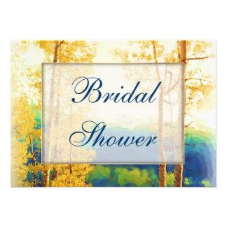 Aspen Glow Bridal Shower Personalized Announcements
