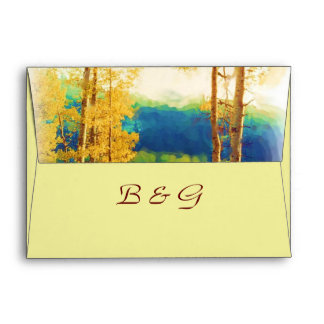 Aspen Glow WEDDING Envelope