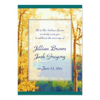 Aspen Glow WEDDING invitation