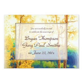 "Aspen Glow WEDDING invitation 5"" X 7"" Invitation Card"