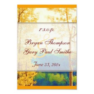 Aspen Glow Wedding RSVP Card