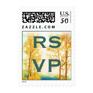 Aspen Glow Wedding RSVP stamps