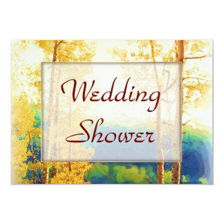 Aspen Glow WEDDING Shower Card