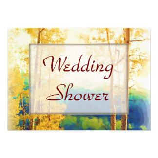 Aspen Glow WEDDING Shower Personalized Invite