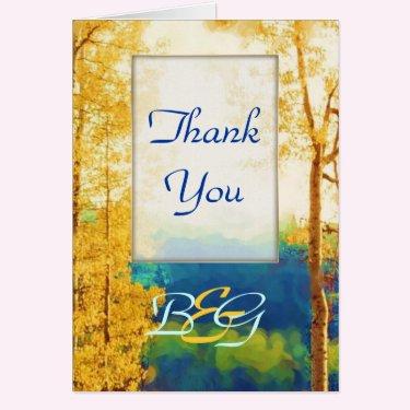 Aspen Glow WEDDING Thank-You Greeting Card