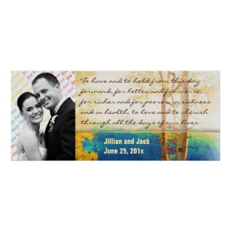 Aspen Glow WEDDING Vows Display Posters