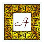 Aspen Gold Celtic Monogrammed Wedding Invitation