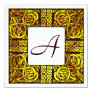 Aspen Gold Celtic Monogrammed Wedding Invitation