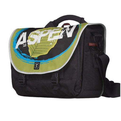 Aspen Green Leaf Laptop Bag