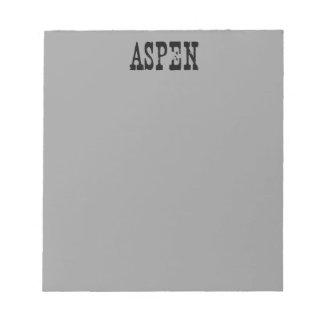 Aspen Grey Memo Notepad
