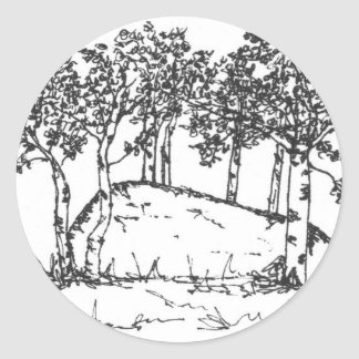 Aspen Grove Classic Round Sticker