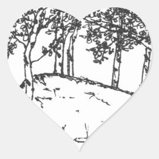 Aspen Grove Heart Sticker