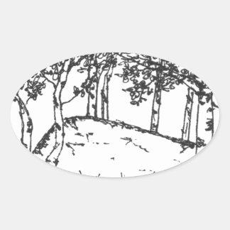 Aspen Grove Oval Sticker