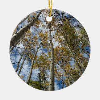 Aspen Grove Reaching toward the Sky Ceramic Ornament