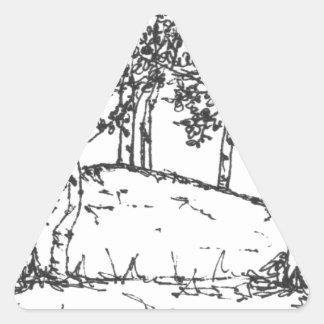 Aspen Grove Triangle Sticker