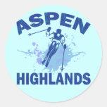 ASPEN HIGHLANDS ROUND STICKER