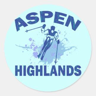 ASPEN HIGHLANDS CLASSIC ROUND STICKER
