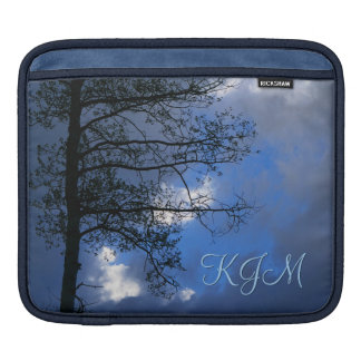 Aspen in the Clouds Monogrammed Sleeve For iPads