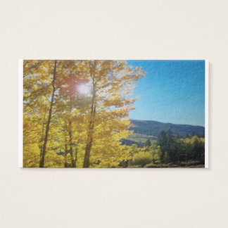 Aspen in the Fall Business Card