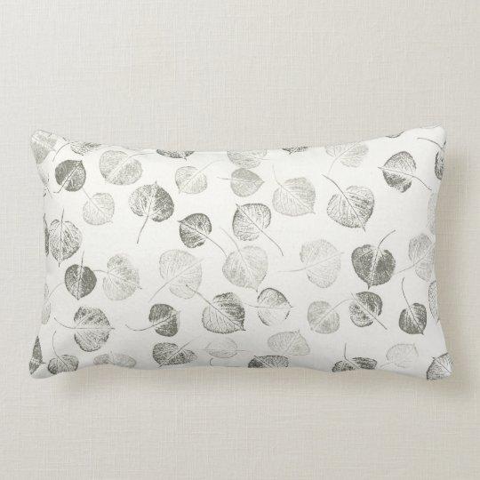 Aspen Leaf Pattern Lumbar Pillow
