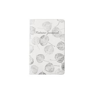 Aspen Leaf Print Nature Journal Pocket Moleskine Notebook Cover With Notebook