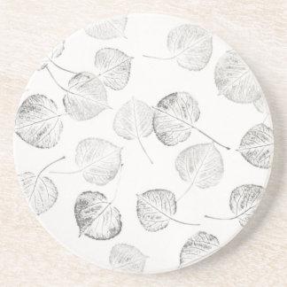 Aspen Leaf Prints Drink Coaster