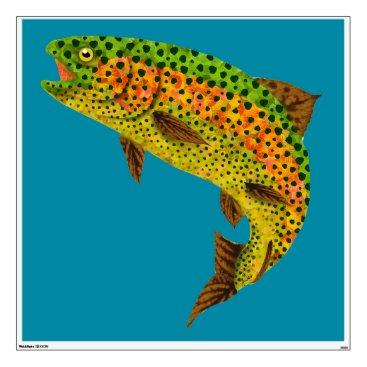 Art Themed Aspen Leaf Rainbow Trout 1 Wall Sticker