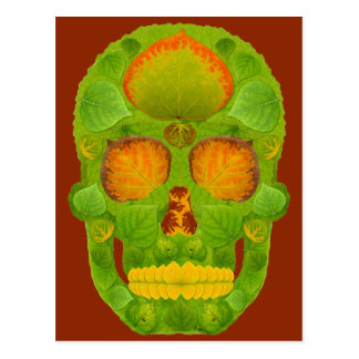 Aspen Leaf Skull 10 Postcard