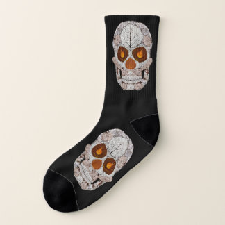 Aspen Leaf Skull 11 Socks
