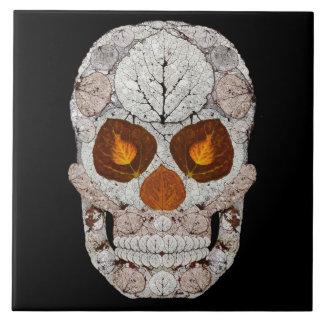 Aspen Leaf Skull 11 Tile
