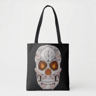 Aspen Leaf Skull 11 Tote Bag