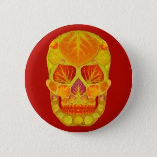 Aspen Leaf Skull 13 Button