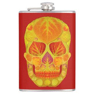 Aspen Leaf Skull 13 Flask
