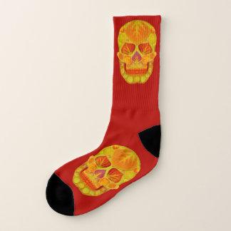 Aspen Leaf Skull 13 Socks