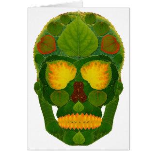 Aspen Leaf Skull 9 Card