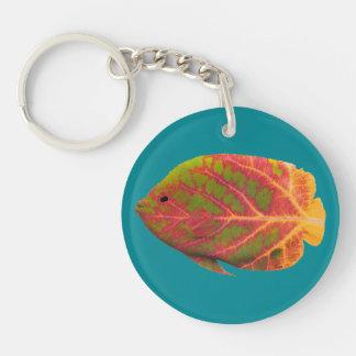 Aspen Leaf Tropical Fish 1 Keychain