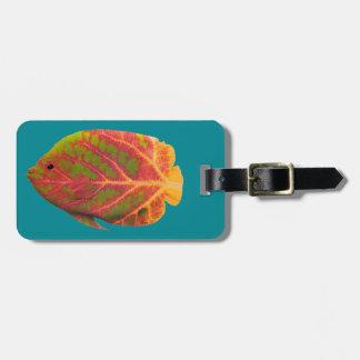 Aspen Leaf Tropical Fish 1 Luggage Tag
