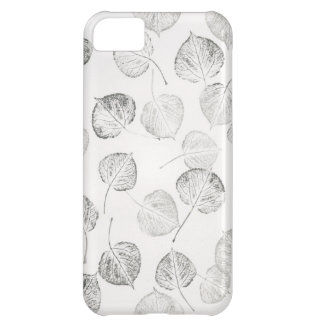 Aspen Leaves Black and White iPhone 5C Cover
