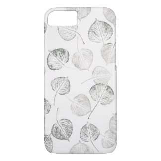 Aspen Leaves Black and White iPhone 7 Case